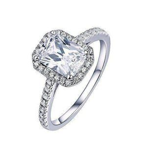 2.25 Carats radiant and round cut CVD diamonds Rin